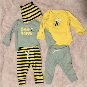 Bee outfits 3-6m